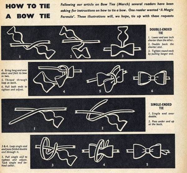 How to Tie a Bowtie, Vintage Style