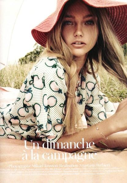 Sasha Pivovarova in Vogue Paris November 2010